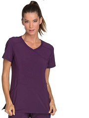 2625A Cherokee  Mock Wrap Top<br> *Certainty Antimicrobial Stretch*