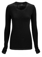 2626A Cherokee  Long Sleeve Knit Tee<br> *Certainty Antimicrobial Stretch - Yoga Inspired*