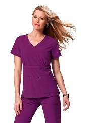 267-PL Koi Sapphire Sherri Top <br> (XS-3XL) *Soft/Stretch* PLUM COLOR FINAL SALE