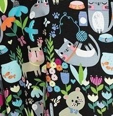 289PR-CEC Koi Scrubs Luna Top  Cute Critters<br> Spring 2019