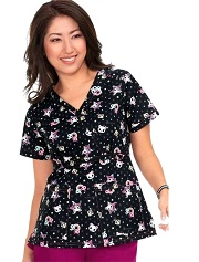 289TKD-HDS Koi Scrubs Luna Top Hollywood Stars <br> Fall/Winter 2018 TOKIDOKI FINAL SALE