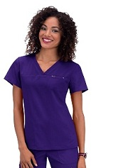 294 Koi Sapphire Cora Top <br>XS - 3XL *Stretch - Simple n Comfy*