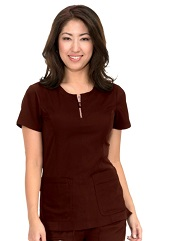 317-ES Koi Lite Scrub Top Serenity Espresso FINAL SALE (2XL)