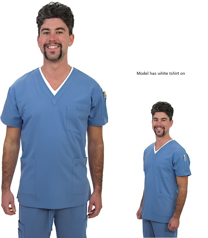 E320T Excel Men Scrub Top (XS - 2XL) *Luxuriously soft fabric Stretch*