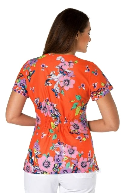 341PR-SCB Koi Carly Scrub Top Scrolled Butterfly <br>Summer 2017 FINAL SALE