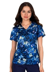 350PR-ALG Koi Lite Bliss Scrub Top Animal Garden <br>XXS FINAL SALE