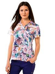 350PR-BDR Koi Bliss Scrub Top Bed of Roses <br>Fall/Winter 2017