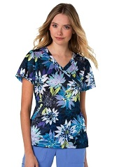 350PR-CFL Koi Bliss Scrub Top Cactus Flower <br>FINAL SALE XXS