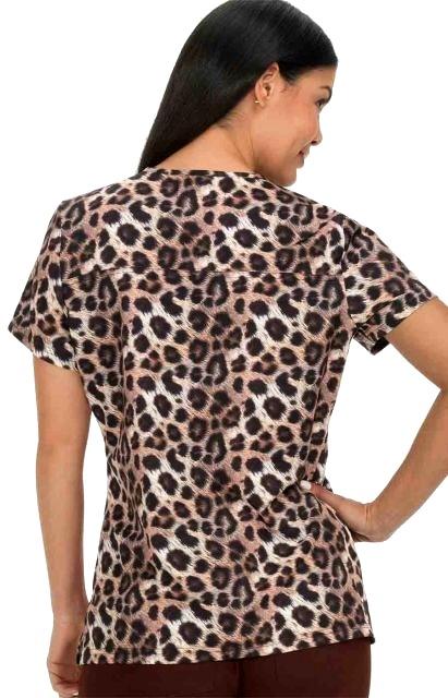 352PR-RLL Koi Scrubs Serena Top Real Leopard <br> FINAL SALE (XS,S,M,2XL,3XL)