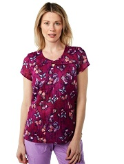 362PRM-WGD Koi Gigi Scrub Top Winged Darlings <br>Fall/Winter 2017 FINALSALE