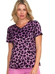 369PR-CCA Koi Lite Nema Scrub Top Scrubs Cheetah Chiquita <br>XXS,XS,XL FINAL SALE