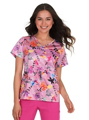 369PR-TSU Koi Lite Nima Scrub Top Toss Up <br>FINAL SALE XXS,XS