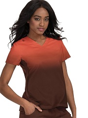 370PR-C052 Koi Lite Reform Scrub Top CINNAMON/ESPRESSO <br>FINAL SALE