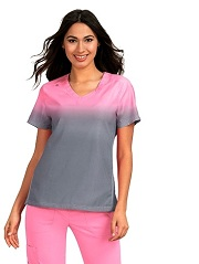 370PR-M119 Koi Lite Reform Scrub Top More Pink / Platinum Grey <br>Spring 2019