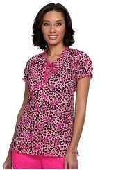 377PRM-RBC Koi Delany Top Breast Cancer 100% cotton <BR>FINAL SALE