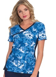 385PR-ITB Koi Raquel Scrub Top INTO THE BLUES <BR>FINAL SALE