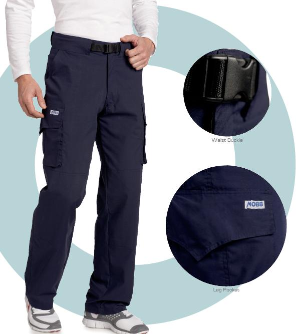 409P Mobb Tactical Cargo Zipper Scrub Pants (Regular 31'' & Tall 36'' inseam)