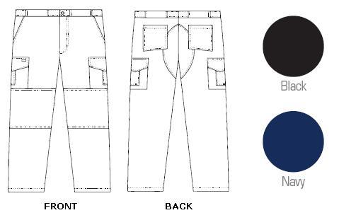 409P Mobb Tactical Cargo Zipper Scrub Pants (Regular 31'' & Tall 36'' inseam)