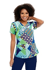 GA41386-GAMS Grey's Anatomy Top MOSAIC SUN <BR>FINAL SALE