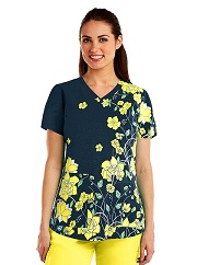 GA41386-SSN Grey's Anatomy Print Top Sweet Sunshine <br>FINAL SALE