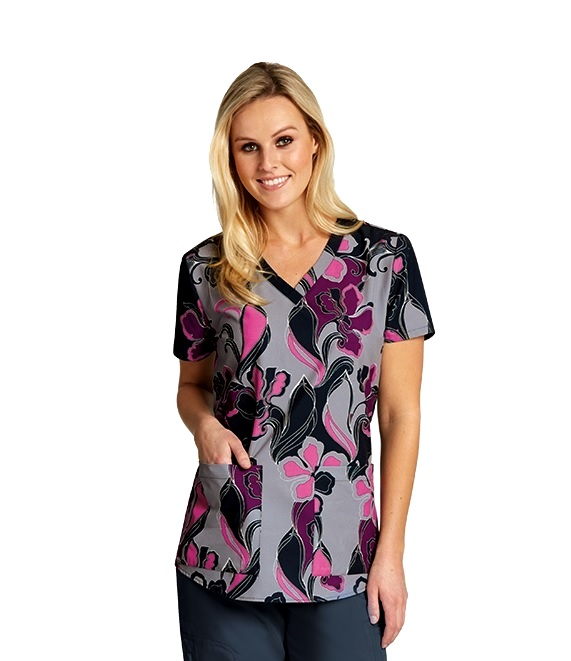 GA41386-SWF Grey's Anatomy Print Top Swirly Floral <br>Fall 2017