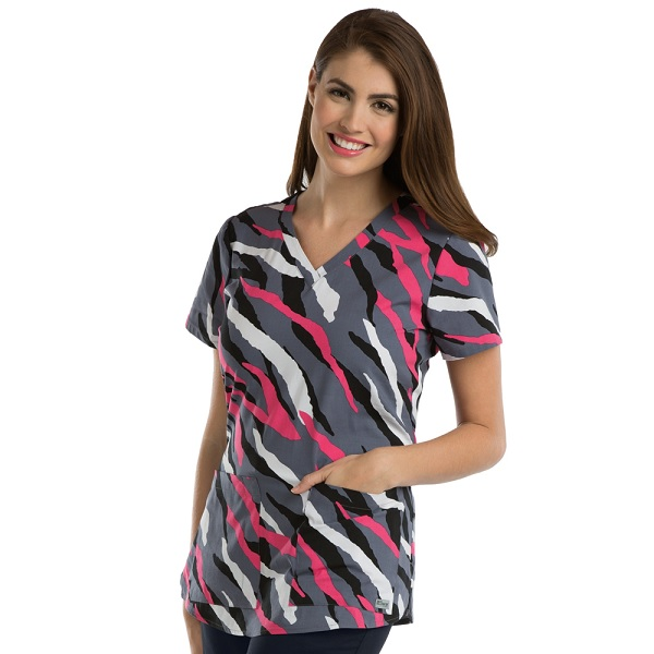 GA41386-ZEB Grey's Anatomy Print Top Zebra<br> SUPER SOFT (XS,S,3X,4X) <br>FINAL SALE