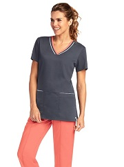 GA41466 Grey's Anatomy Active Contrast V-Neck Top Soft XS - 3XL