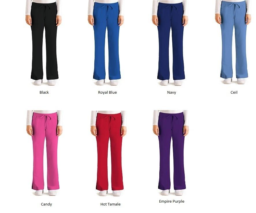 GA4232 Grey's Anatomy Elastic Back Tie Front Pants <br>XXS - 5XL (Regular, Tall, Petite) Limited Qty