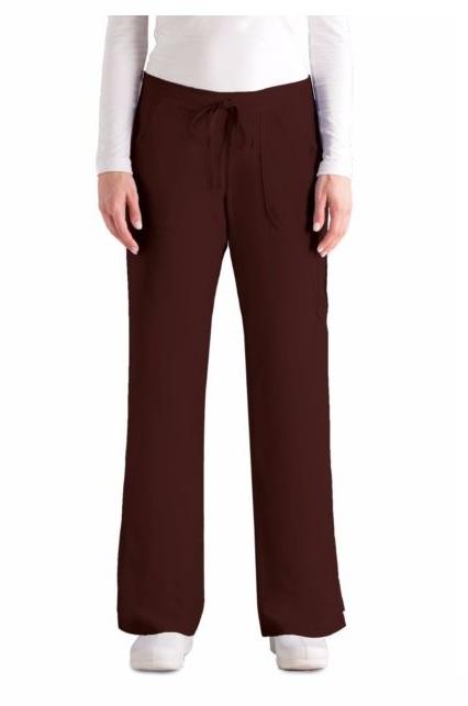 GA4245 Grey's Anatomy Cargo Pants TRUFFLE BROWN (Regular, Tall, Petite)<BR> FINAL SALE