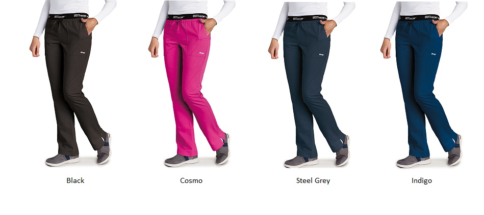 GA4275 Grey's Anatomy Active Logo Waist Band Pants  (Regular, Petite) <br>XS - 3XL *SLIM FIT*