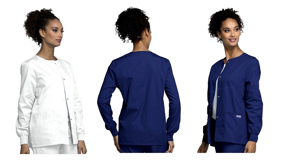 4350 Cherokee Snap Front Warm-Up Jacket with Cuff <br>XXS - 5XL