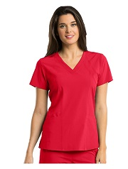 B5105 Barco One Women's V-Neck Perforated Shoulder Scrub Top <br>FINAL SALE