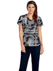 B5107-ORI Barco One Scrub Top STRETCH <Br>*FINAL SALE* XXS-S