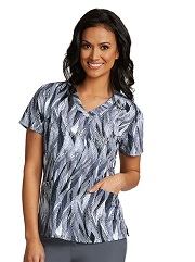 B5107-SLF Barco One Scrub Top STRETCH SilverFeather <br>FALL 2017 *FINAL SALE*
