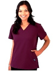 E510T Excel Comfort Scrub Top - No elastic Back  <br>(XXS - 2XL) *Stretch*