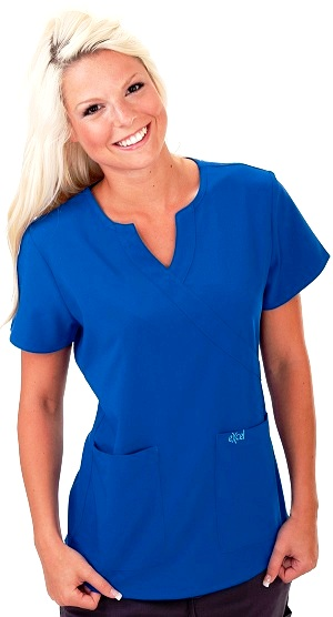 E511T Excel Slim Fit Comfort Scrub Top  <br>(XXS - 2XL) *Stretch*