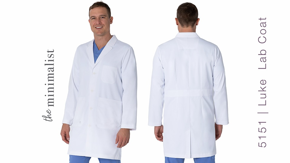 5151 Healing Hands Luke Lab Coats STRETCH <br>XXS - 5XL
