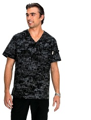 655PR Koi Coby Men <br>Scrub Top <br>Retro Camo