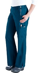 709 Koi Flat Front Slim Cut Sara Scrub Pants (Regular, Tall, Petite) - XS to 3XL
