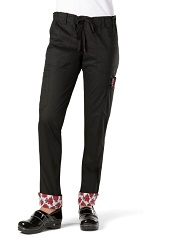 710LE Koi Skinny Lindsey Scrub Pants with Waist Print Trim<br>*Stretch* Black Only FINAL SALE