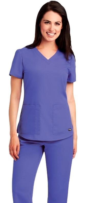 GA71166 Grey's Anatomy V-Neck Top  Soft XS - 5XL FINAL SALE (XL-5XL)