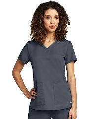GA71166 Grey's Anatomy V-Neck Top <br>Soft  XS - 5XL