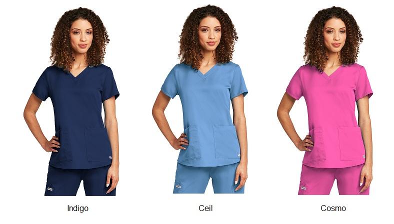 GA71166 Grey's Anatomy V-Neck Top <br>Soft  XS - 5XL