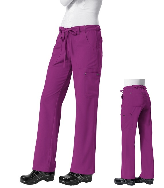 715 Koi Sapphire Alicia Pant<br> (Regular, Tall, Petite) <br>XXS to 3XL  *Soft/Stretch* PLUM COLOR-FINAL SALE