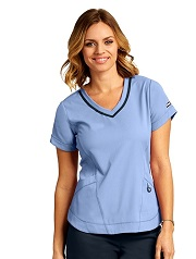 GA7187 Grey's Anatomy IMPACT Harmony Top *Athletic Design*FINAL SALE <br>PALE SKY (XL to 3XL)