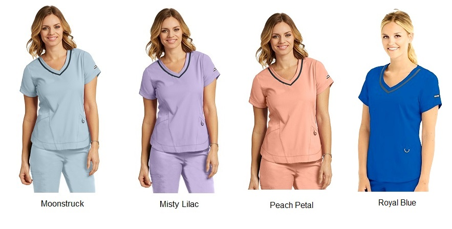 GA7187 Grey's Anatomy IMPACT Harmony Scrub Top *Athletic Design*