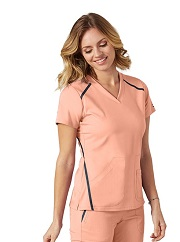 GA7188 Grey's Anatomy IMPACT Elevate Scrub Top *Athletic Design* FINAL SALE (PEACH PETAL)