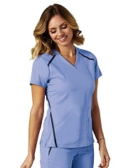 GA7188 Grey's Anatomy IMPACT Elevate Top  *Athletic Design*FINAL SALE <BR>PALE SKY  (XL to 3XL)