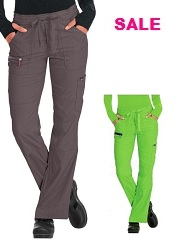 721SALE Koi Lite Scrub Pants Peace <br>Steel Grey / P.Green<br> STRETCH FINAL SALE (Regular, Petite, Tall)