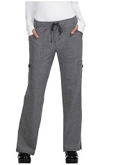 731-HG Koi Basic Scrubs Holly Pants <br>Microfiber Stretch Heather Grey *Reg, Tall, Petite*